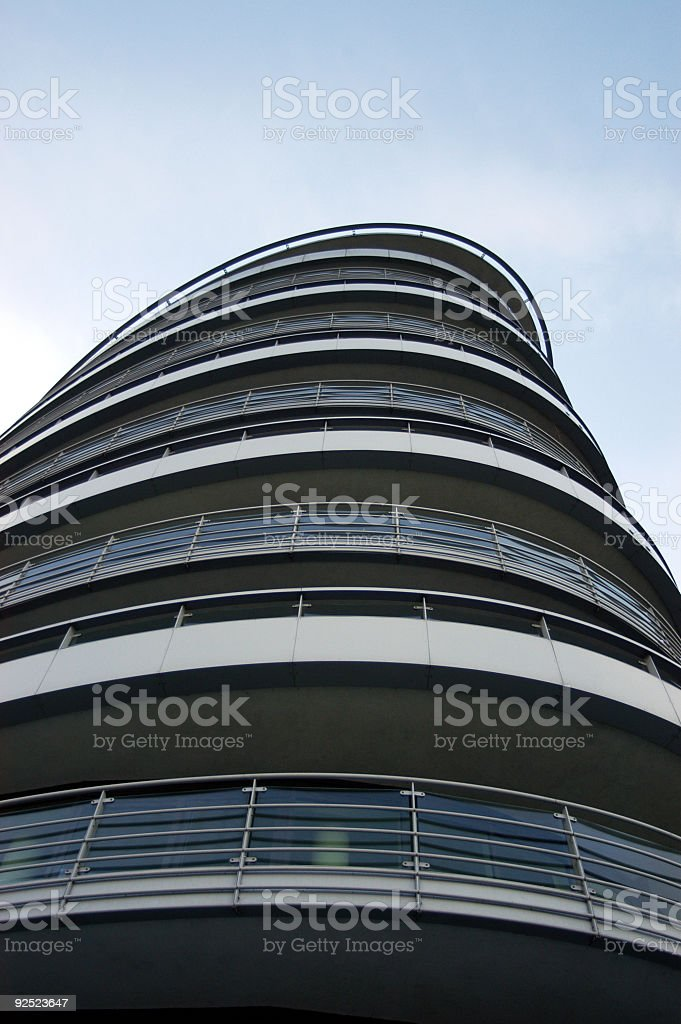 Eliptical apartment building royalty-free stock photo