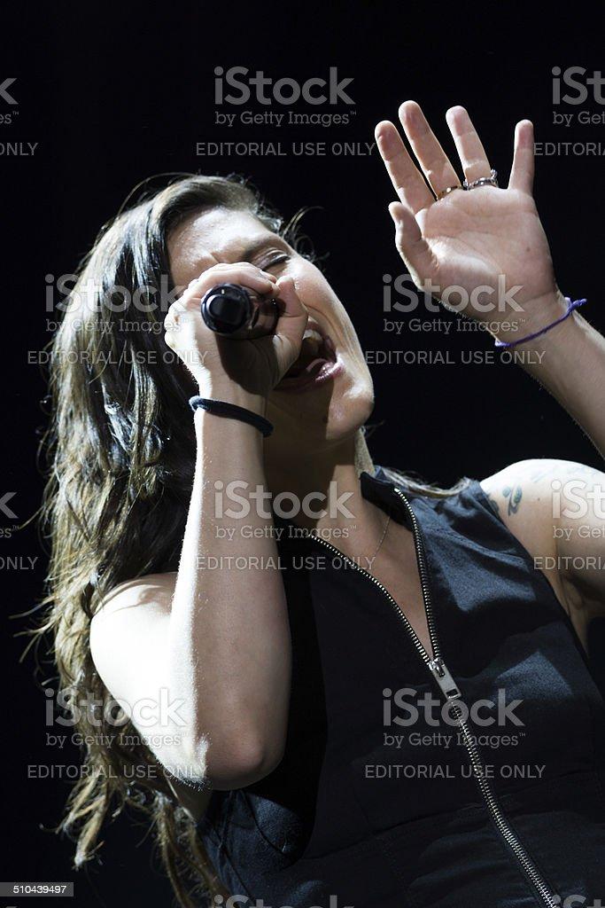 Elisa Toffoli (Singer) - Lucca Summer Festival Performance stock photo