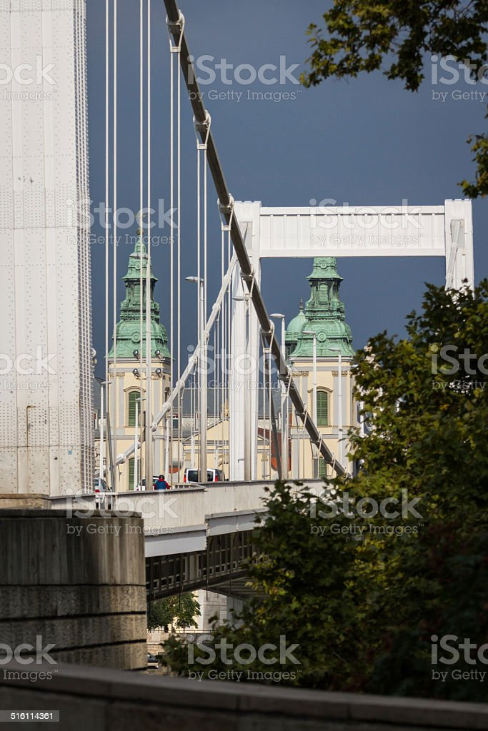 Elisabeth Bridge (Budapest), Hungary stock photo