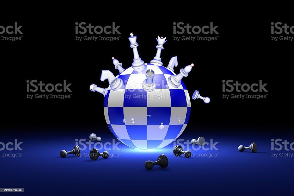 Elite Society (chess metaphor) stock photo