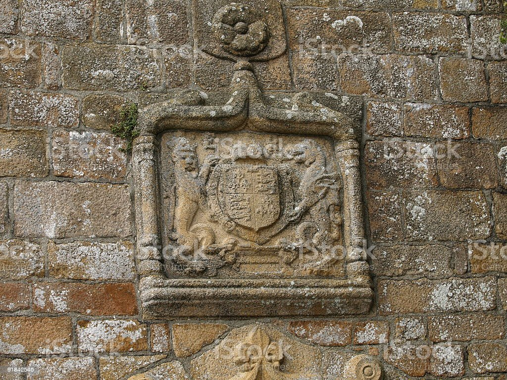 Elizabeth 1 coat of arms,Jersey. royalty-free stock photo