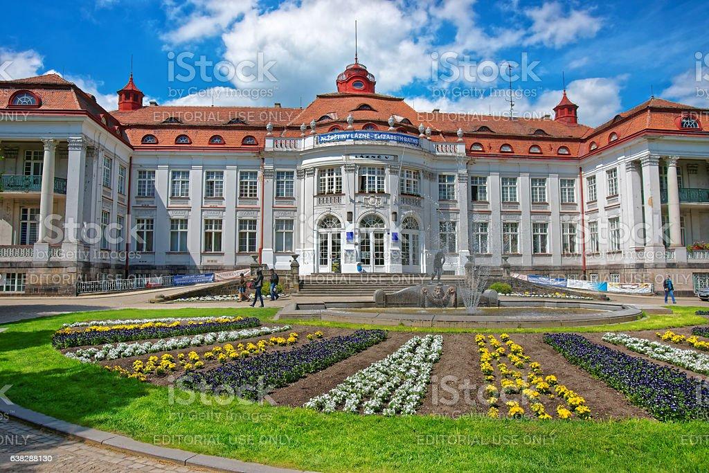 Elizabeth Baths in Karlovy Vary Czech republic stock photo