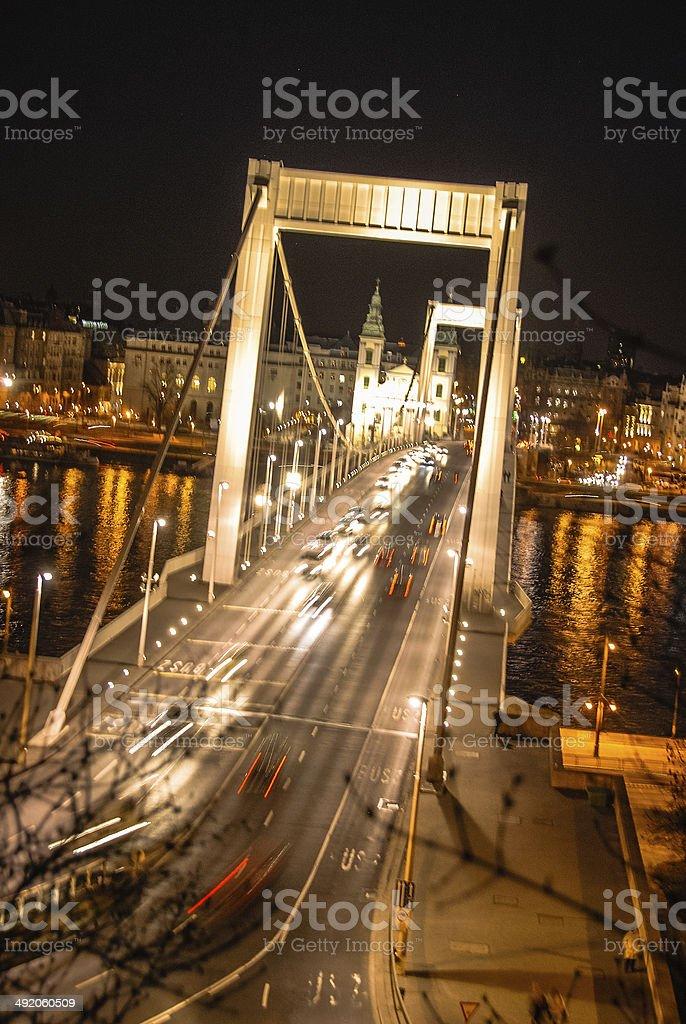Elizabeth Bridge - Budapest, Hungary stock photo