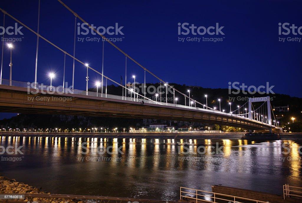 Elizabeth Bridge Budapest stock photo