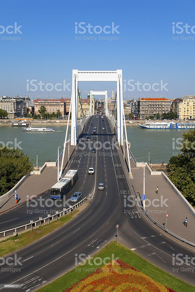 Elizabeth Bridge in Budapest, Hungary royalty-free stock photo