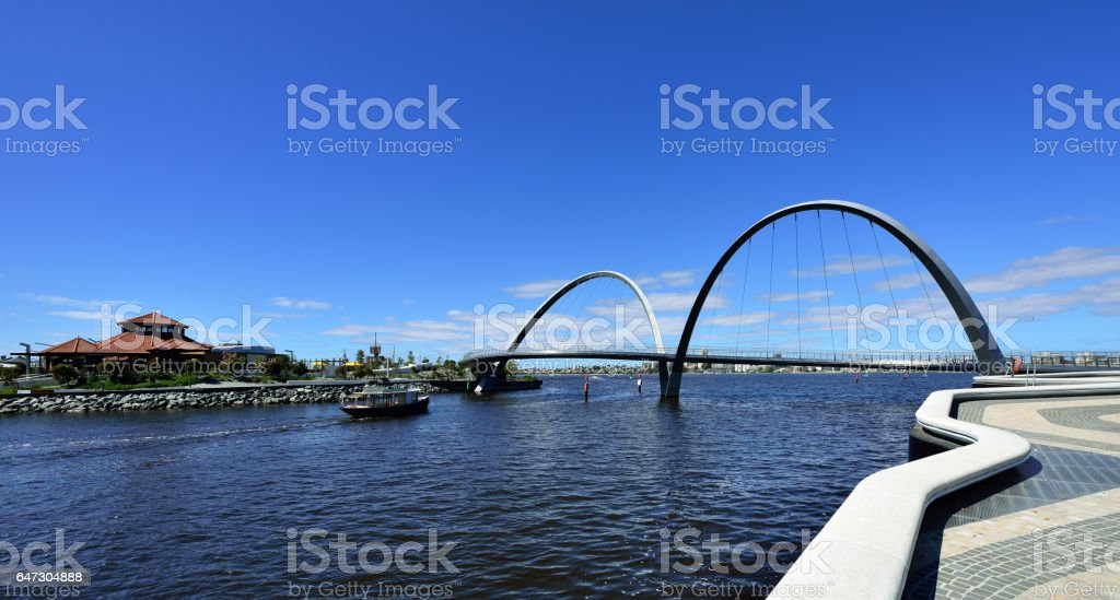 Elizabeth Bridge, Perth, Western Australia stock photo