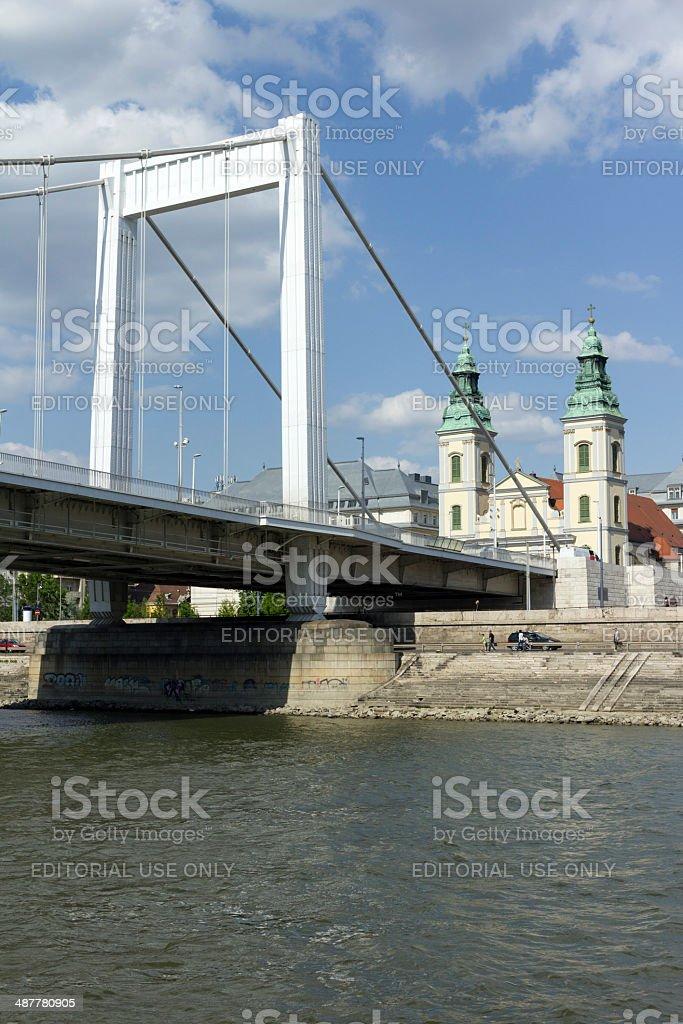 Elizabeth bridge stock photo