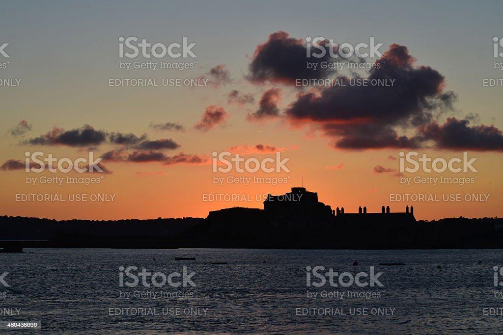 Elizabeth Castle, Jersey, U.K. stock photo