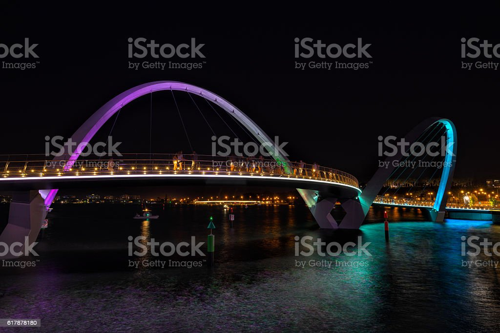 Elizabeth Quay  bridge in Perth stock photo