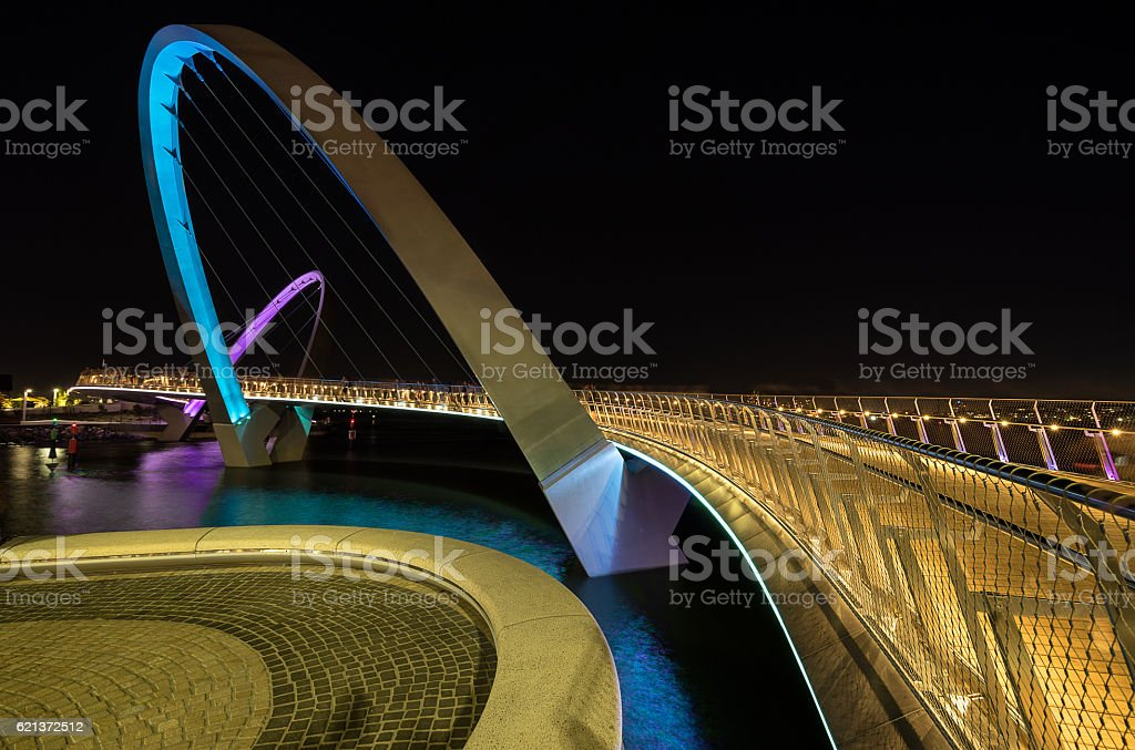 Elizabeth Quay footbridge stock photo