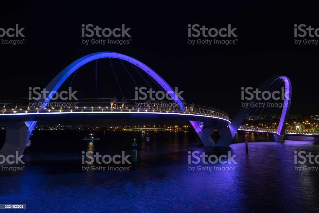 Elizabeth Quay in Perth stock photo