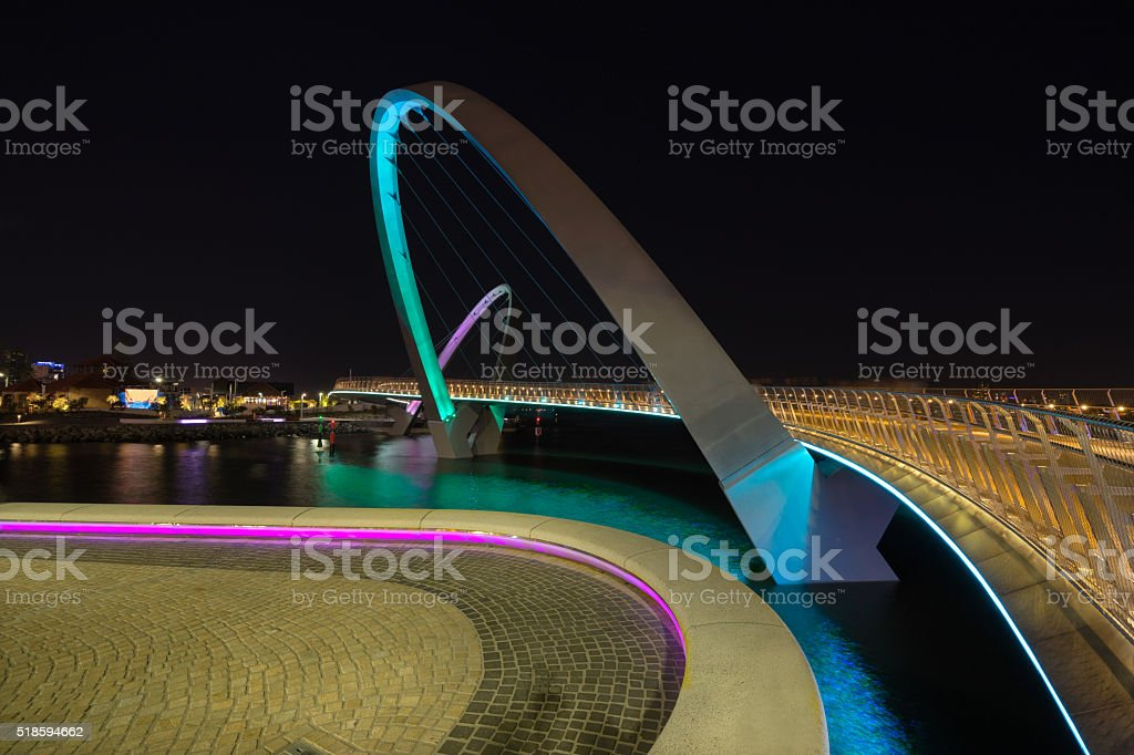 Elizabeth Quay in the city of Perth stock photo