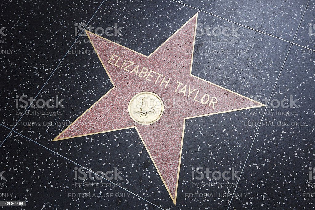 Elizabeth Taylor, Walk of Fame stock photo