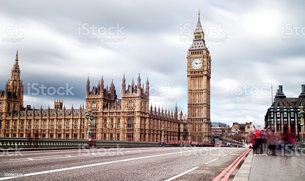 Elizabeth Tower in London also known as Big Ben stock photo