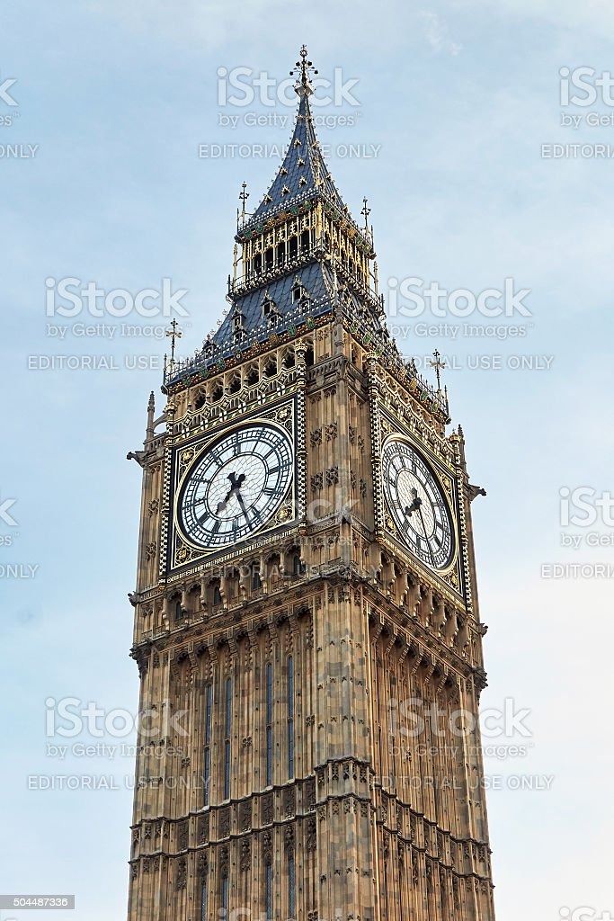 Elizabeth Tower, London stock photo