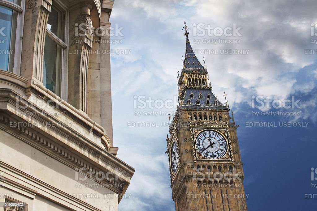 Elizabeth Tower, or Tower of Big Ben in London stock photo
