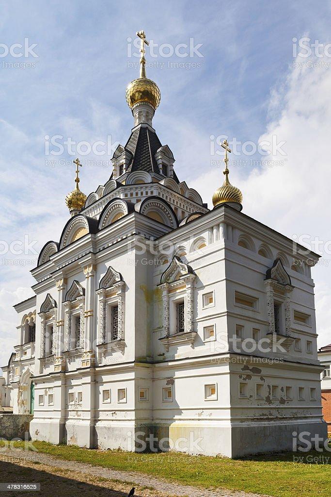 Elizabethan church in Dmitrov Kremlin, Russia royalty-free stock photo