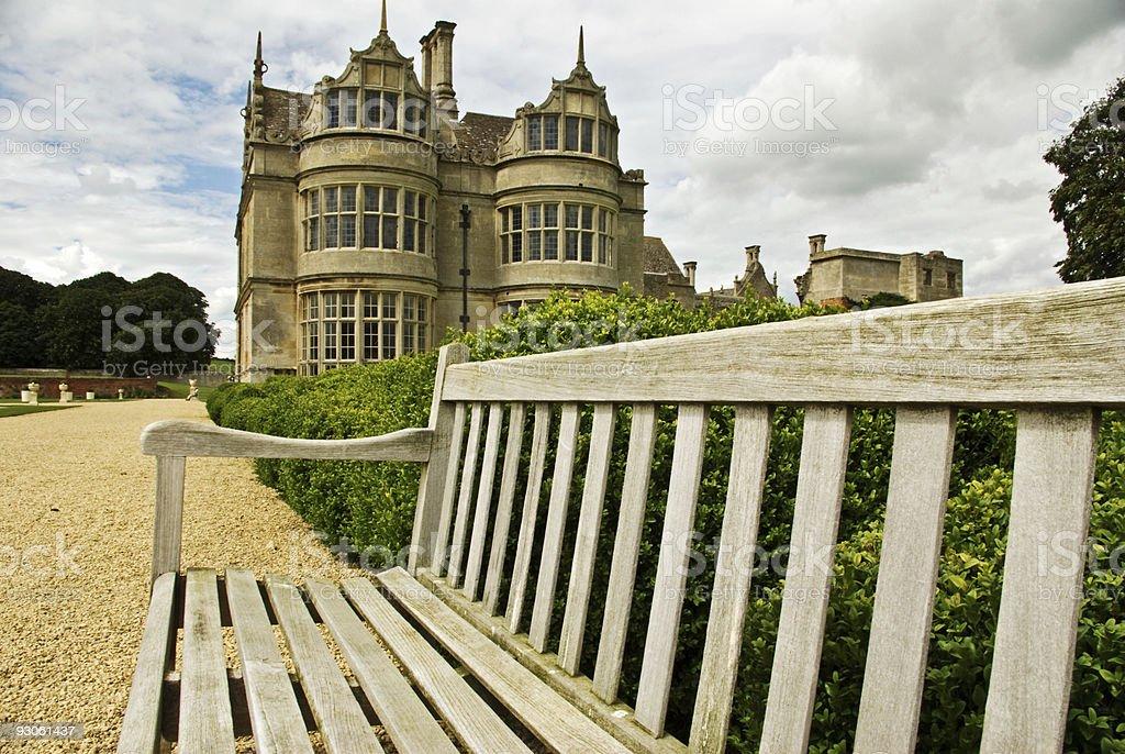 Elizabethan mansion stock photo