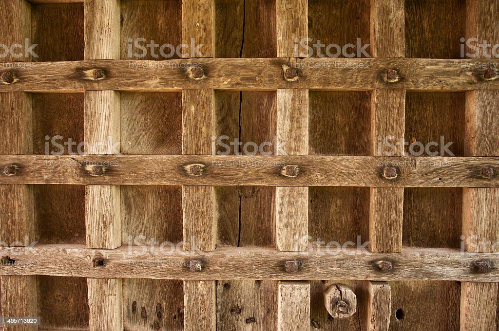 Elizabethan Oak Door stock photo