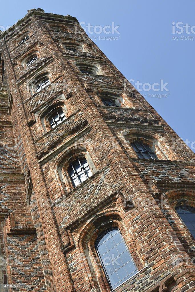 Elizabethan Tower at sharp angle royalty-free stock photo