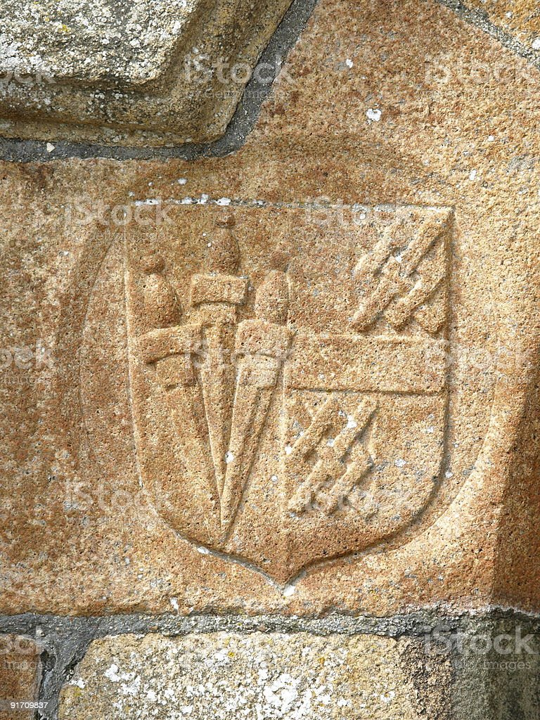 Elizabethian arms,Jersey, stock photo