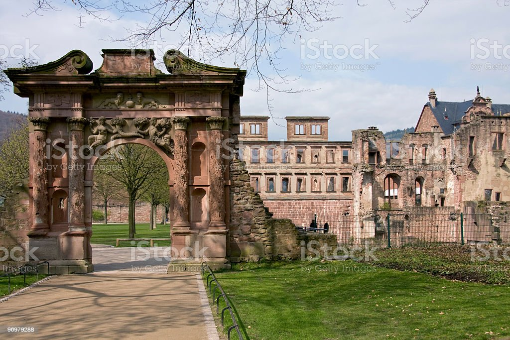 Elizabeth's Gate at Heidelberg Castle stock photo