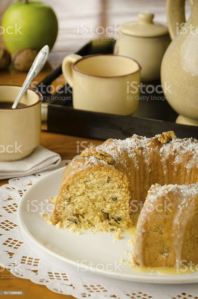 Eliza's apple pound cake (see recipe below). stock photo