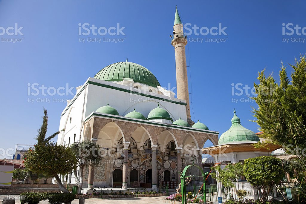 El-Jazzar mosque in the old city of Acre, Akko, Israel. royalty-free stock photo