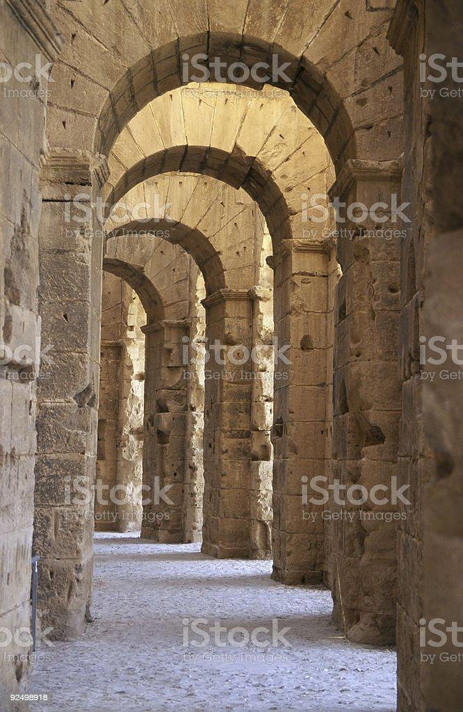 El-Jem Colosseum royalty-free stock photo