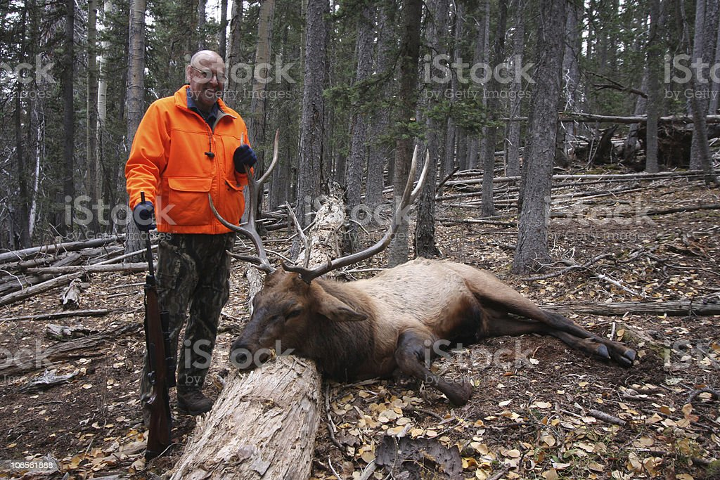 Elk Hunter stock photo