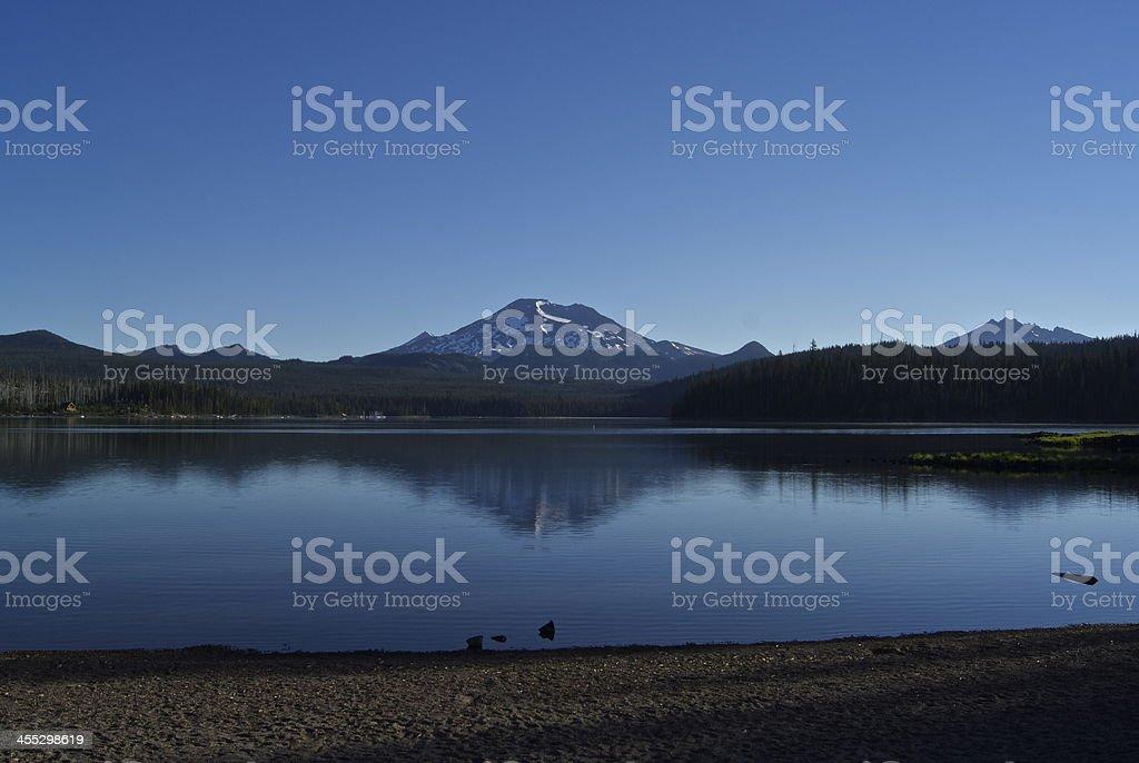 Elk Lake Mirror stock photo