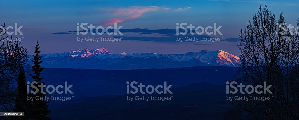 Elk Mountains Roaring Fork Valley stock photo