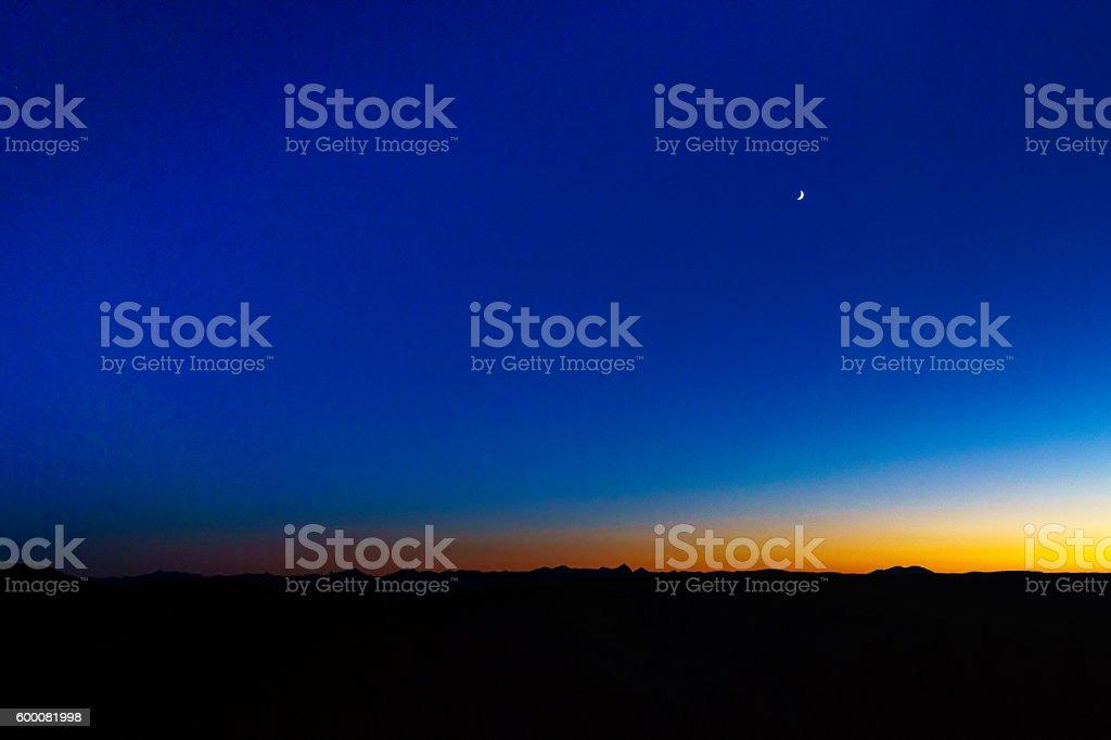 Elk Rang Dusk Sunset stock photo