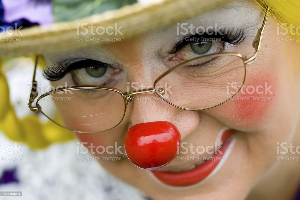 Elka Umpa the Clown - Smiling 2 stock photo