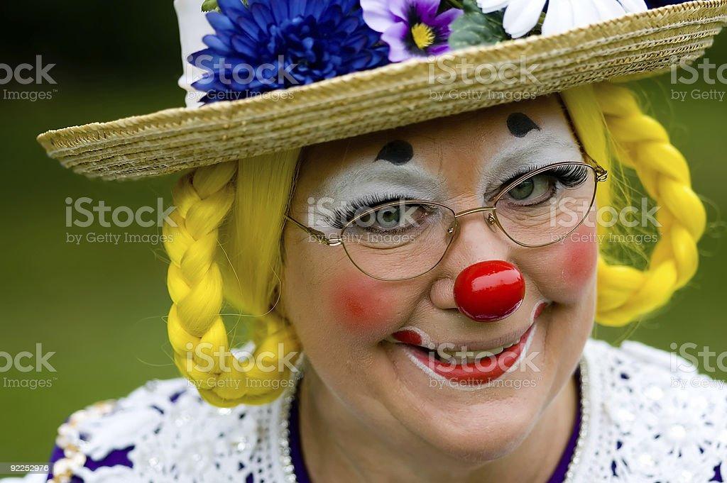 Elka Umpa the Clown - Smiling stock photo