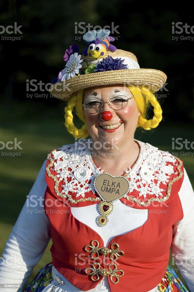 Elka Umpa the Clown - Smiling vertical stock photo