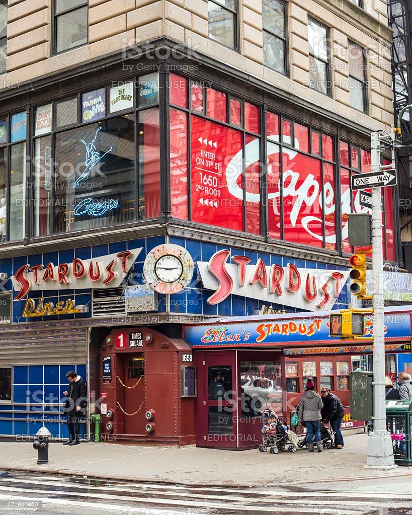 Ellen's Stardust Diner NYC stock photo