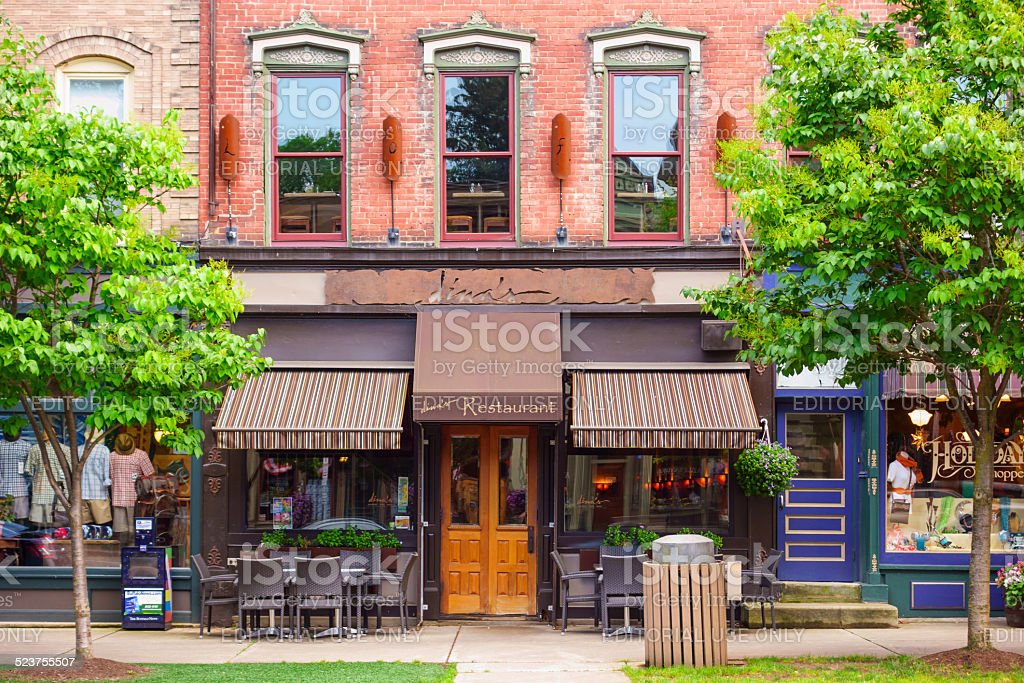 Ellicottville, New York, USA stock photo