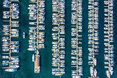 Elliot Bay Marina Aerial View - Seattle Washington