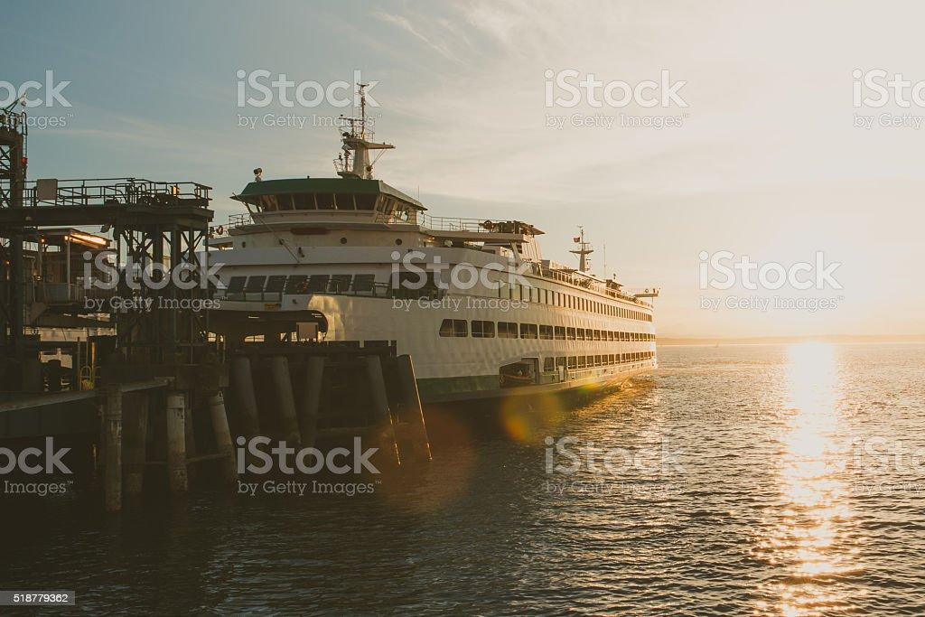 Elliott Bay Ferry stock photo