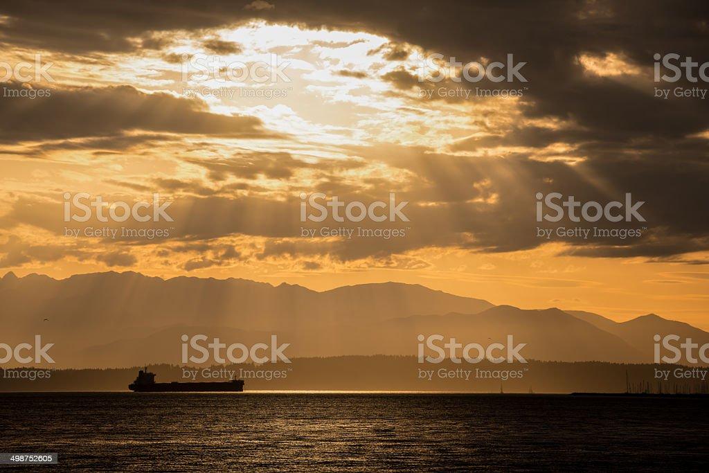 Elliott Bay Tanker royalty-free stock photo