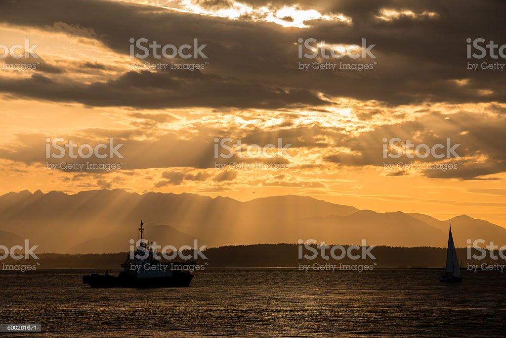 Elliott Bay Tug Boat royalty-free stock photo