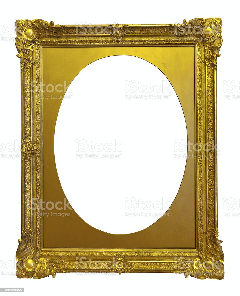 ellipse gold picture frame royalty-free stock photo
