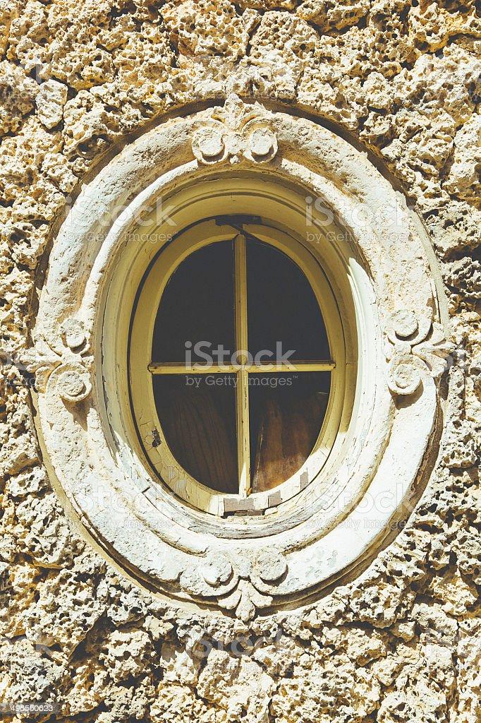 Ellipse Window stock photo