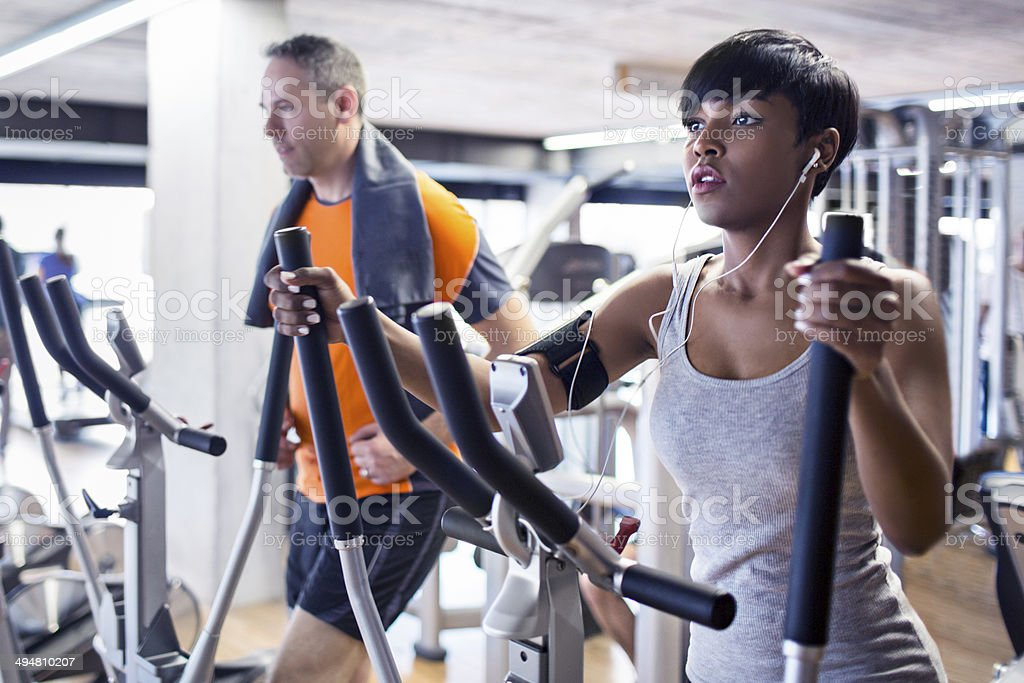Elliptical cross trainer stock photo