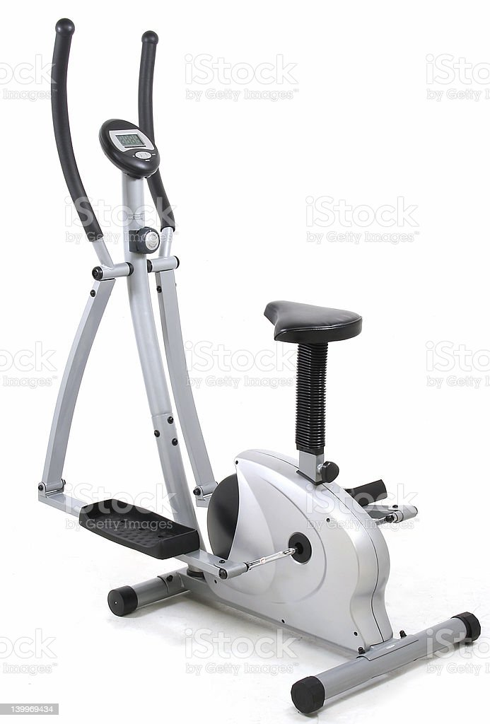 Elliptical gym machine royalty-free stock photo