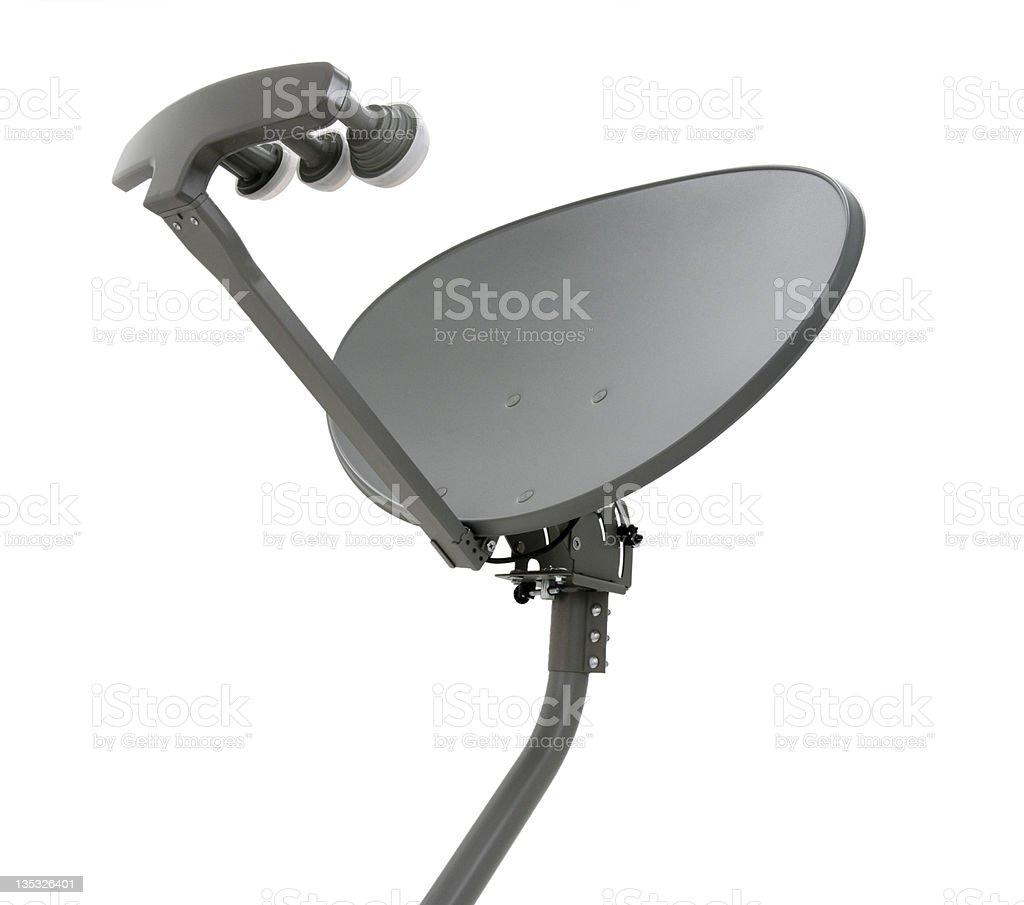 Elliptical Satellite Dish with Mast royalty-free stock photo