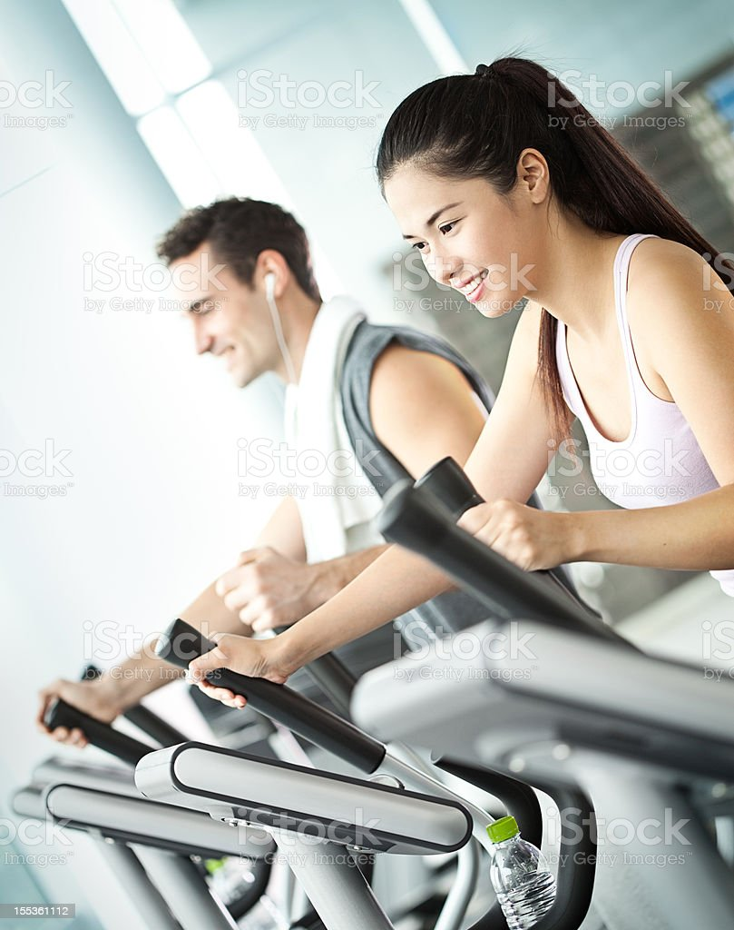 Elliptical Workout royalty-free stock photo