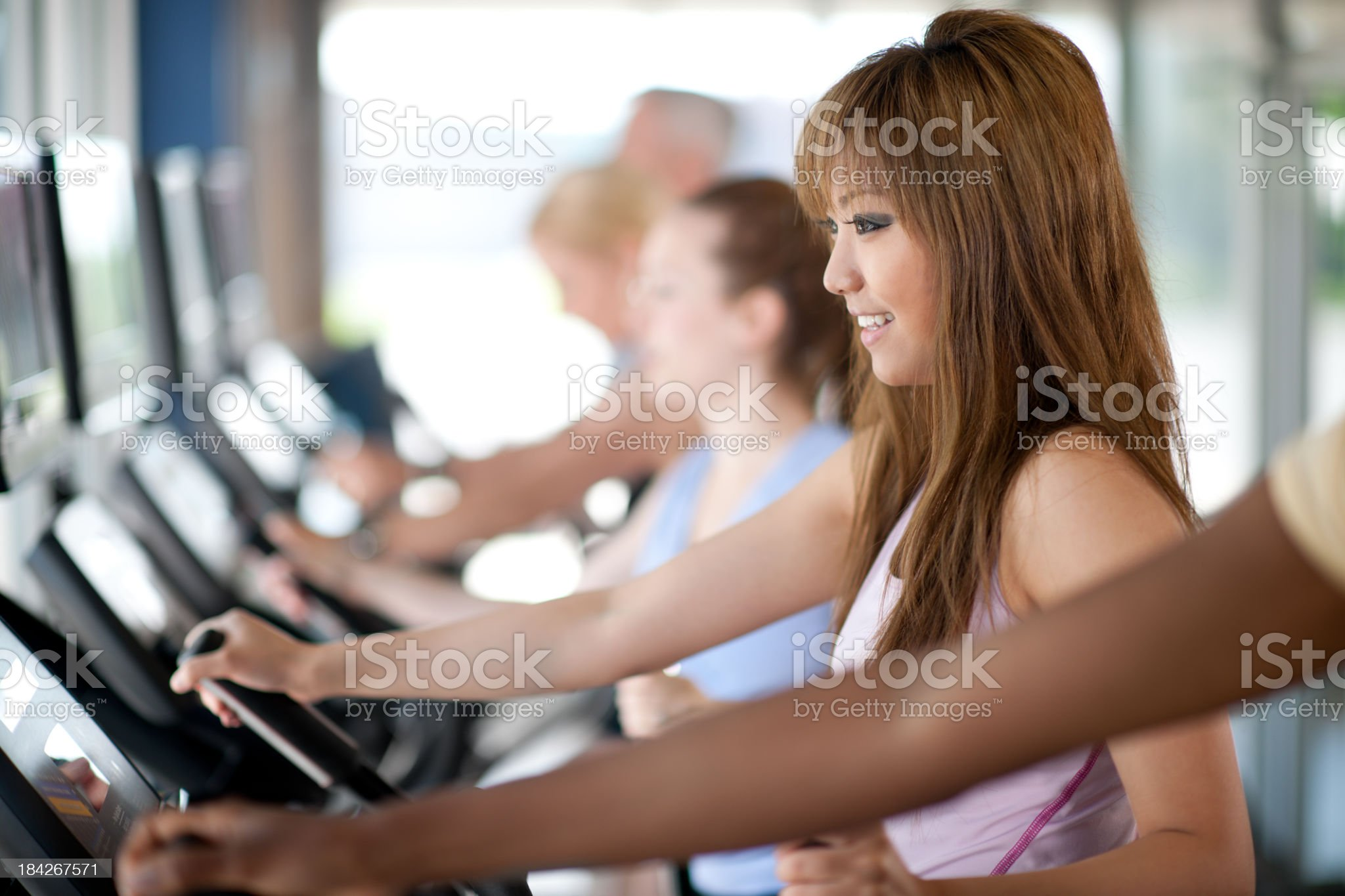 Elliptical workout royalty-free stock photo