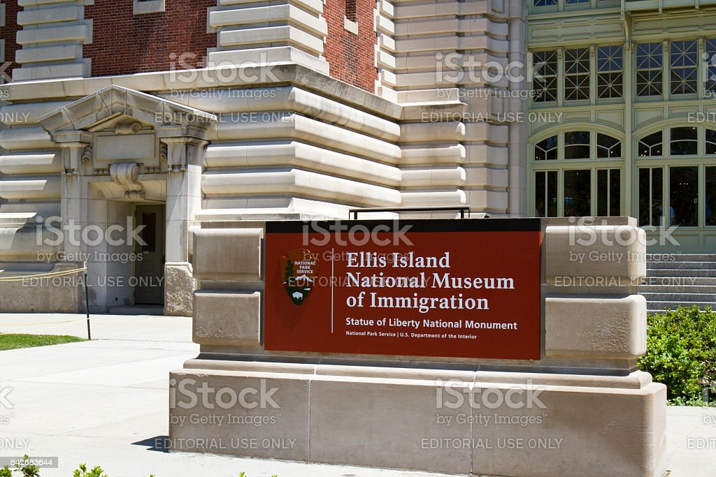 Ellis Island National Museum of Immigration stock photo